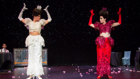 Tory Peil & Lily Verlaine as The White and Red Queens